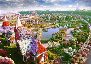 بالصور.. دبي تضم أكبر حديقة زهور في العالم