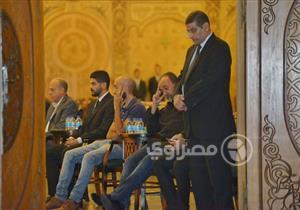 30 صورة ترصد توافد نجوم الفن والمجتمع على عزاء محفوظ عبد الرحمن