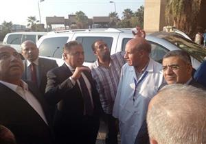 """بتكليف من السيسي.. وزير الصحة و""""الوزير"""" ومحافظ الشرقية يتفقدون مستشفى العاشر"""