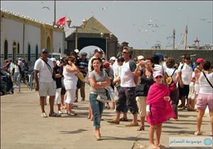 الإحصاء: 48% ارتفاعا في عدد السياح خلال يوليو الماضي