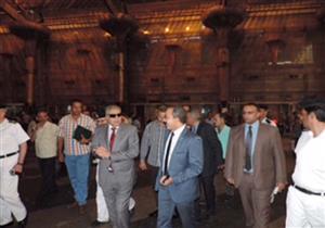 مدير النقل والمواصلات يتابع الحالة الأمنية بمحطة سكك حديد مصر (صور)