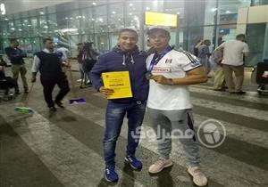 بطل المصارعة حسن حسن يصل القاهرة بعد حصده برونزية فنلندا