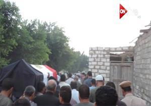 جنازة عسكرية للنقيب أحمد فهمي شهيد سيناء