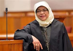 بالصور: سنغافورة تختار أول رئيسة مسلمة في تاريخها من أقلية الملايو