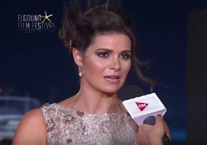 """يسرا اللوزي عن الجونة السينمائي: """"أول مرة ميكونش فيه شد وضرب""""-فيديو"""