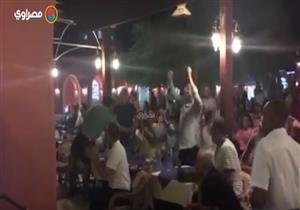 """العلايلي والعدل يحتفلان بهدف """"الأهلي"""" في """"الترجي"""" بمهرجان الجونة"""