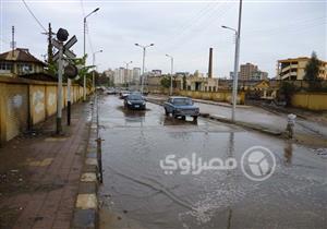 بالصور.. الأمطار تغرق شوارع الدقهلية في أول أيام السنة الجديدة