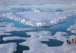 تجمد مياه المحيط الأطلسي قبالة السواحل الأمريكية