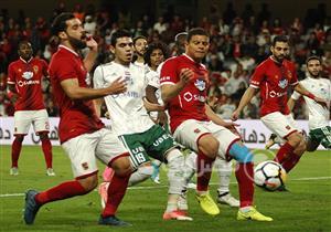 الشوط الأول من مباراة الأهلي والمصري بالسوبر