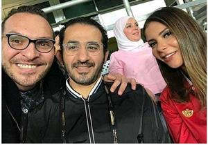 أحمد حلمي ومنى زكي يجمعان تبرعات باستاد هزاع بن زايد