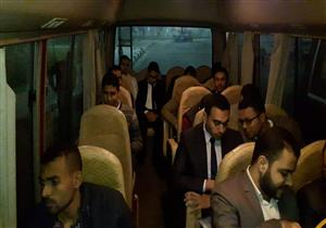"""بالصور.. 55 شابًا من بورسعيد يتوجهون إلى القاهرة لإجراء اختبارات """"حقل ظهر"""""""
