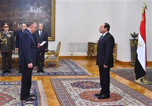 بالصور- الوزراء الجدد يؤدون اليمين الدستورية أمام السيسي