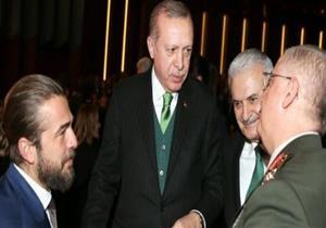 """باالفيديو.. أردوغان وزوجته يحضران العرض الخاص بمسلسل  """"كوت العمارة"""""""