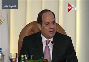"""السيسى: """"نسعى لأن نكون جسرًا لنقل الكهرباء إلى إفريقيا وآسيا وأوروبا"""""""