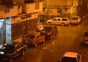 بالصور.. سقوط أمطار غزيرة على بورسعيد