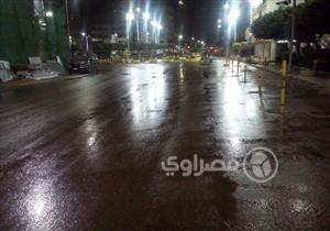 بالصور..أمطار غزيرة مصاحبة برياح شديدة بكفر الشيخ