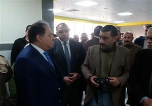 بالصور- يفتتحها الرئيس السيسي.. وزير الصحة يتفقد مستشفى بني سويف العام