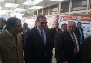 """وزير القوى العاملة يصل مؤتمر """"مصر أمانة بين ايديك"""" بالمنيا - صور"""