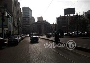 بالصور– سقوط أمطار متوسطة على الإسكندرية