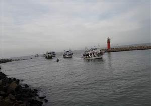 استئناف حركة الصيد في دمياط بعد تحسن الطقس