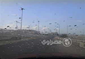 بالصور.. سقوط أمطار خفيفة على بورسعيد