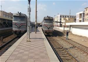 تعطل حركة قطارات الصعيد بسبب خروج جرار عن القضبان في بني سويف