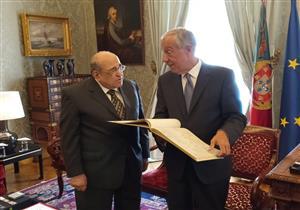 بالصور- رئيس البرتغال لمصطفى الفقي: تجمعنا علاقات متميزة بالشعب المصري