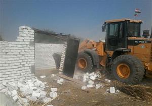 إزالة 15 حالة تعد على أراض زراعية في بني سويف