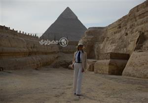وزيرة السياحة: زيارة ميلانيا ترامب لمنطقة الأهرامات أكبر دعاية لمصر
