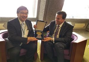 وزير التعليم العالي يبحث مع رئيسي جامعتي طوكيو وكيوتو آليات التعاون المشترك