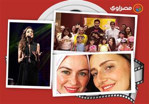 النشرة الفنية| أنغام بالأسود في أول حفلة بعد وفاة شقيقتها وأخت رشدي أباظة تزور نادية لطفي