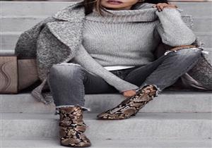 fb6896b4d7e57 بالصور- التايجر وجلد الثعبان.. أحدث صيحات الأحذية النسائية لشتاء 2019