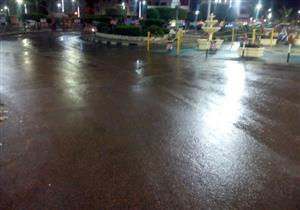 سقوط أمطار خفيفة على كفر الشيخ