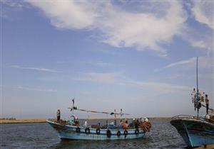 عودة حركة الصيد ببوغاز عزبة البرج في دمياط بعد تحسن الطقس