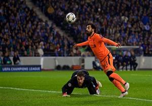 بالفيديو.. محمد صلاح يُسجل هدفاً رائعاً مع ليفربول أمام بورتو