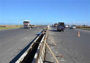 انهيار جزئي في كوبري الطريق الساحلي بكفر الشيخ