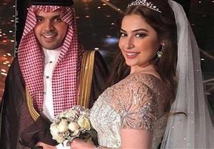 """الإعلامية رؤى الصبان بإطلالة مرصعة بـ""""الألماس"""" في حفل زفافها"""