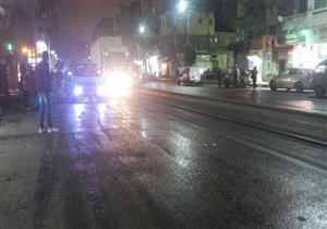 """بالصور.. """"الشمس الصغيرة"""" تضرب الإسكندرية بأمطار متوسطة"""