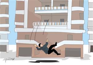 تفصل بينهما 10 دقائق.. سقوط عاملين من الطابق 11 في بورسعيد