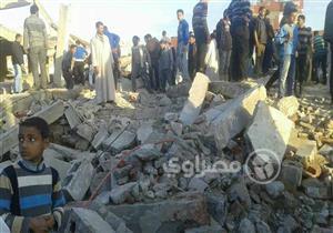بالصور.. إصابة 8 أطفال في انهيار مبنى الجمعية الزراعية في الإسكندرية