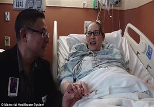 بالفيديو- أمريكي يهدي زوجته جزء من جسده في عيد زواجهما