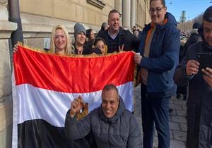 الجالية المصرية في السويد تحتشد داخل مقر السفارة للمشاركة بالانتخابات