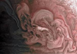 صورة.. لقطة مذهلة لعاصفة في سماء كوكب المشتري