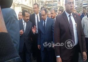 """بالصور.. وزير الداخلية يصل موقع """"انفجار الإسكندرية"""""""