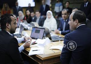 بالصور| السيسي يتابع الانتخابات الرئاسية من مقر حملته بالتجمع الخامس