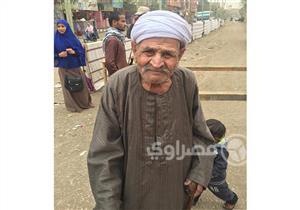 """بالصور.. مسن من مواليد ثورة 19 يدلي بصوته: """"السيسي فكرني بعبد الناصر"""""""