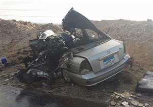 إصابة أميني شرطة في تصادم 3 سيارات بطريق القاهرة الإسكندرية الزراعي