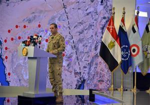 المتحدث العسكري: نراعي معايير حقوق الإنسان مع العناصر الإرهابية