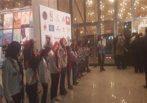 أطفال الكشافة يستقبلون الضيوف في افتتاح مهرجان الإسماعيلية
