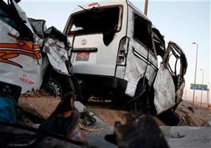 إصابة 12 من عمال اليومية في تصادم 4 سيارات بالشرقية